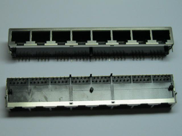 20 шт. 8 портов RJ45 модульная сеть PCB разъем 59 8P боковой вход LAN разъем экранированный