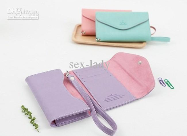 For 4 Horizontal Flip Leather Pouch Case With Card Slot and Lanyard