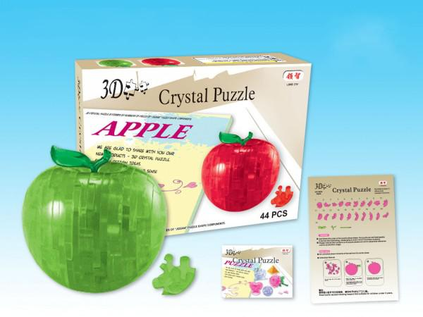 Apple Shaped Style 3D Crystal Block Puzzles Toy Mixed Orderhigh quality