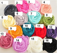Wholesale Womens Scarves Jewelry - 2016 New Womens girl scarf candy color silk scarves sweet candy lady wrinkled scarves pendant jewelry silk scarf