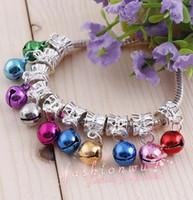 jingle perlen großhandel-Lot 200pcs bunte Weihnachten Jingle Bell Perlen 8mm