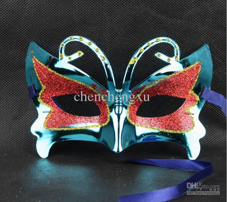 Halloween party supplies plating mask small butterfly Ms. mask with a variety of hair masquerade