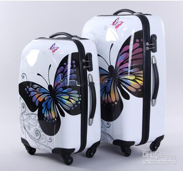 Butterfly Bars Box Abs   Pc Boarding Box Suitcases Camouflage ...