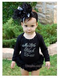 Wholesale Girls Swan Sets - new children's wear black little swan long sleeve modelling romper baby sets black 100% cotton