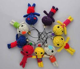 Brinquedos voodoo on-line-Melhor Vodu Boneca Bruxa Bruxa Chave Saco Acessórios Moda Correias Brinquedo 100% Handmade high quality100pcs