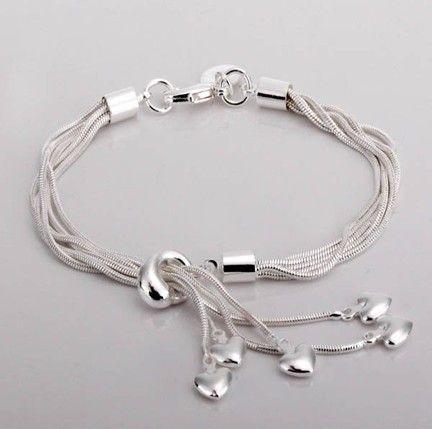 Hot!Free Shipping wholesale 925 Sterling Silver fashion jewelry fashion bracelet.925 Silver bracelet