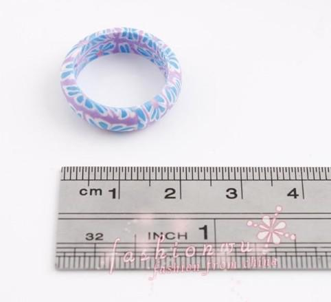 wholesale Mix bright Color Thin Polymer Clay gift Rings