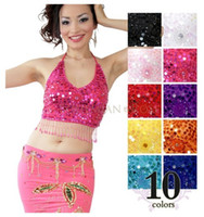 Wholesale Yellow Dance Top - Belly Dance Top 5 flowers style