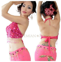 Wholesale Yellow Dance Top - Belly Dance Top 5 flowers style 10 Color In