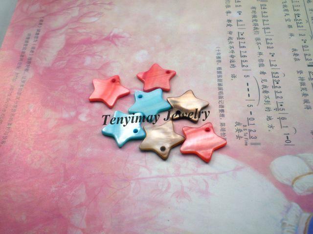 Смешанные Цвета Звезда Shell Кулон, Звезда Shell Шарм, Мода Shell Ювелирные Изделия Найти Бесплатная Доставка