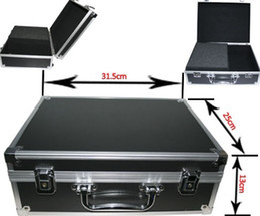 Wholesale Pro Kit Tool Case - Tattoos Black Tattoo Gun Tool Accessories Kit Carrying Case Box Medium Size 31.5X25X13cm Pro