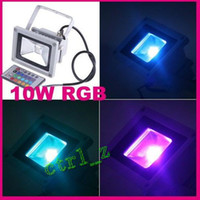 Discount led projection floodlights - 10W 85-265V RGB Projection LED Flood Wash Light Floodlight Outdoor Color Change waterproof