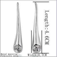 Wholesale 18k Rgp - Hot new 18K RGP platinum gold diamond hoop earrings, Ms. fashion accessories free shipping 10pair
