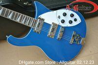 Wholesale Guitar Case Blue - 620 Rick Bright blue Guitar with case