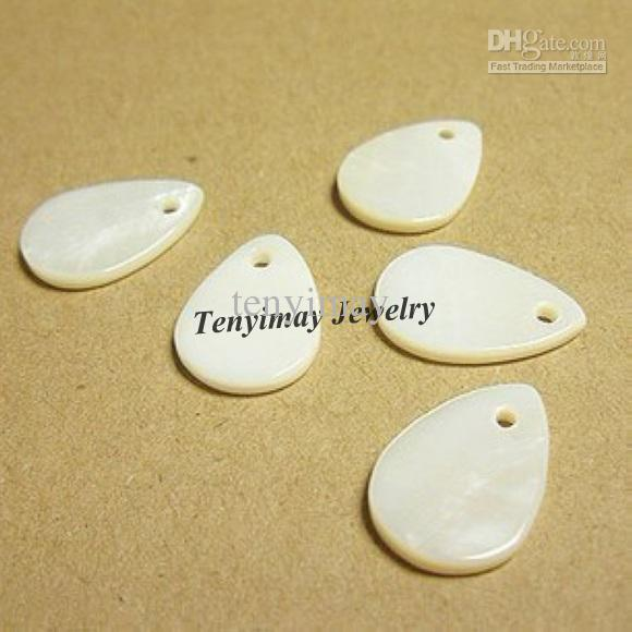White Water Drop Shell Charms Natrual Shell Pendants For Earring