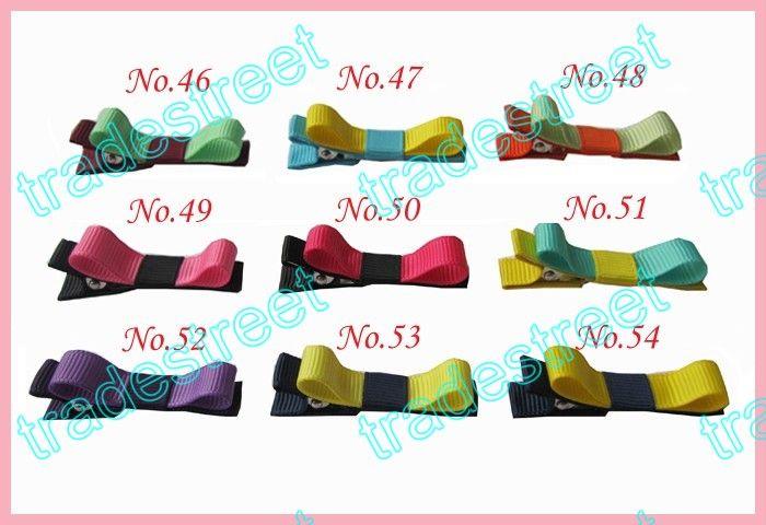 "1.75"" mix colors Girls Boutique hair clips wreath bows"