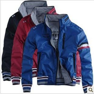 Men's Jacket Zippered Cardigan Casual Coat Stand Collar /men clothes/outwear low price