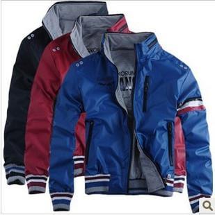 Мужская куртка молнии Кардиган случайных пальто стенд воротник / мужская одежда / Куртки и пиджаки низкой цене