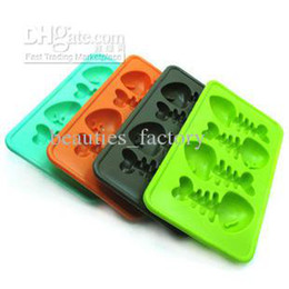 Wholesale Ice Tray Fish - Fish Bone Ice Cube Silicone Ice Cube Maker Tray Jelly Mold Chocolat Mould Cool Bar Party Gadgets