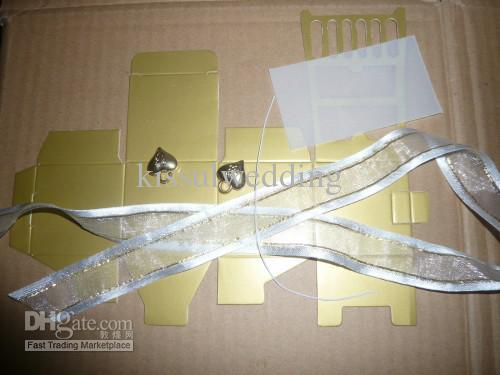 Свадебные шкатулки Миниатюрный золотой стул Favor Box / с визитной карточкой и доставкой в течение 48 часов