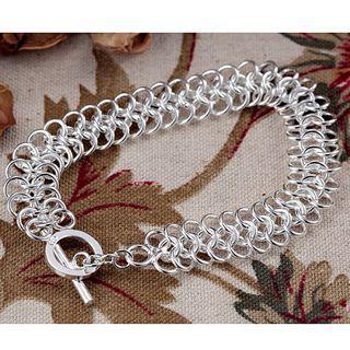 Бестселлеры 925 серебряный круг браслет ювелирных изделий мода унисекс подарок бесплатная доставка 10 шт./лот