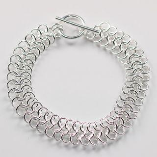 Best-selling 925 silver circle charm bracelet jewelry fashion unisex gift free shipping 10piece/lot