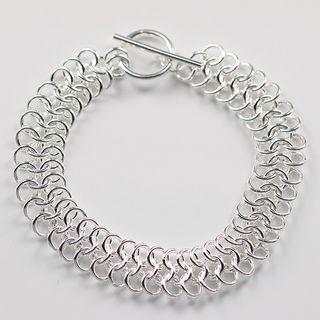 Najlepiej sprzedający się 925 Silver Circle Bransoletka Biżuteria Moda Unisex Prezent Darmowa Wysyłka 10piece / Lot