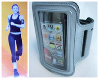 Wholesale Iphone 3g Sport Case - Arm band Leather Jacket Belt Clip Case Waterproof sport running phone holder Gym Pouch for 3 3G 4 4s