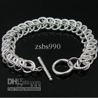 Najlepiej sprzedający się 925 Srebrny urok Bransoletka Centipede do prezentów Unisex Biżuteria Darmowa Wysyłka 10 sztuk