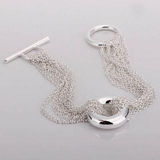 Nuovo trasporto libero 10piece / lot dei monili d'argento della ragazza della rete O di modo del braccialetto di fascino 925 caldi