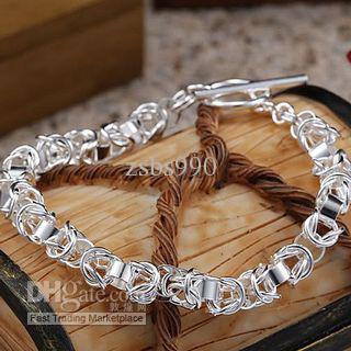 Il nuovo braccialetto d'argento caldo di fascino dei monili di modo 925 libera il trasporto 10piece / lot