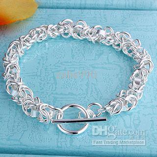 La nueva pulsera de plata caliente del encanto de la joyería de la manera 925 libera el envío 10piece / lot