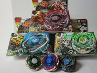 Wholesale New Beyblade Sets - HOT SALE NEW BB105 4D BEYBLADE METAL FUSION FIGHT STARTER SETS 6 model Children Kid Gift Toy