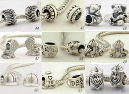 Wholesale Nickel Free Charms Wholesale - Zinc alloy (lead-free nickel) beads charms fashion beads Fit silver Bracelet (200pcs lot) T03