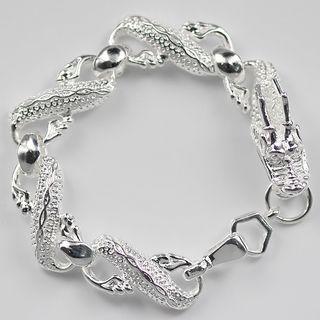 Meistverkaufte 925 Silber Bettelarmband große Bailong unisex Modeschmuck Freies Verschiffen 10 Stück