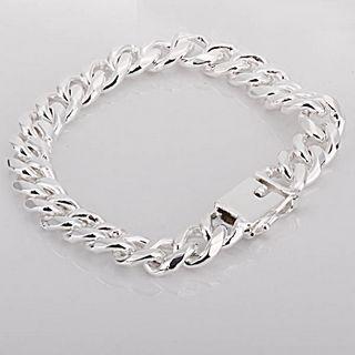 Best-selling 925 silver bracelet 10MM square buckle sideways fashion jewelry free shipping 10piece