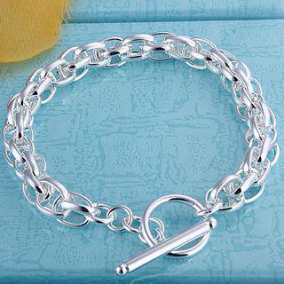Низкая цена оптовая продажа 925 посеребренные Шарм браслеты мода подарок ювелирных изделий бесплатная доставка /много