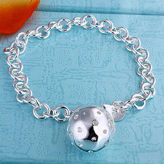 Best-selling 925 silver charm bracelet lob 8 inch long fashion jewelry free shipping 10piece/lot