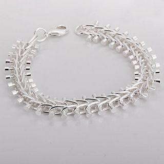 Best-selling 925 silver fish bone charm bracelet popular unisex fashion jewelry free shipping 10piec