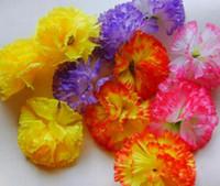 sarı çiçek başları toptan satış-Anneler Günü için 100 P YENI SıCAK Yapay Ipek Karanfil Çiçek Kafaları DIY Broş 8 cm PEMBE MOR SARı TURUNCU