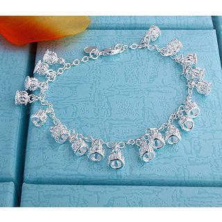 Crown's Best-Selling 925 Silver Charm Armband Sieraden Mode Meisje Geschenken Gratis Verzending 10 Stuk