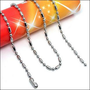 high-quality stainless steel bead chain with Belt buckles necklace bamboo joint ball hot sale 2.4mm