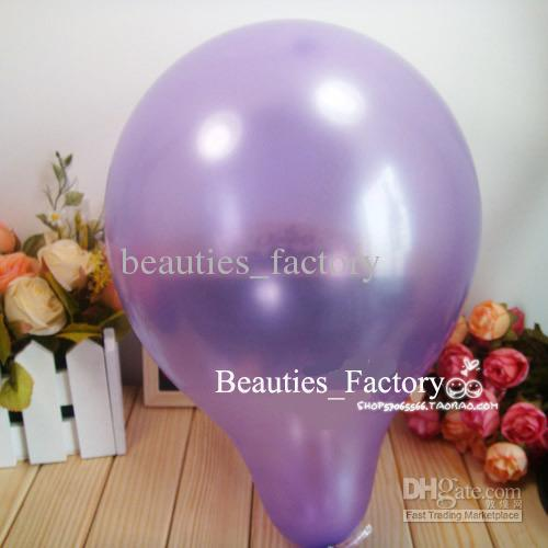 200 Pcs Purple Round Shape Latex Balloons Party Decoration