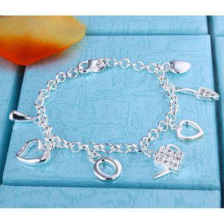 Hot New 925 Silver Pendant Charm Armband och mer Mode Smycken Gratis frakt Girl 10piece