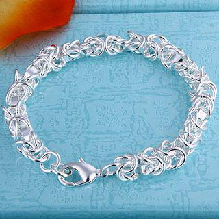 Best-selling 925 silver charm bracelet clasp leading shrimp unisex fashion jewelry free shipping