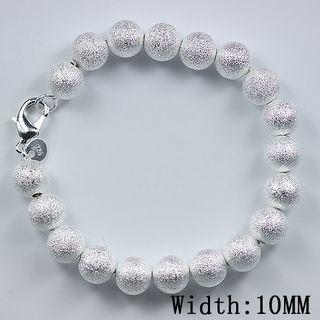 Бестселлер 925 серебряный шарик браслет 10 мм Песок ювелирные изделия подарки бесплатная доставка 10 шт.