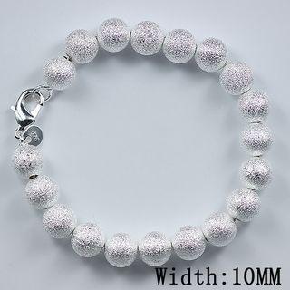 Best-selling 925 silver bead charm bracelet 10 MM arena moda joyería regalos envío gratis 10piece