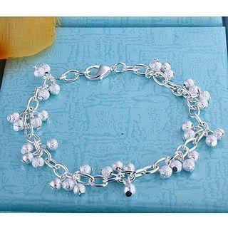 Den mest populära Grape Bead Armband 925 Silver Sand Smycken Mode Girl Gratis Frakt 10 Stycke