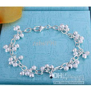 The most popular grape bead bracelet 925 silver sand jewelry fashion girl free shipping 10piece