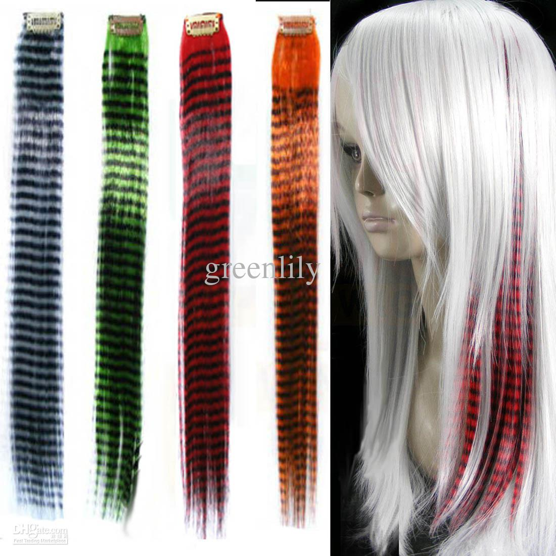 Clip on red hair extension grizzly strand synthetic 16 long 100pcs clip on red hair extension grizzly strand synthetic 16 long feather hair extensions mix lots pmusecretfo Images